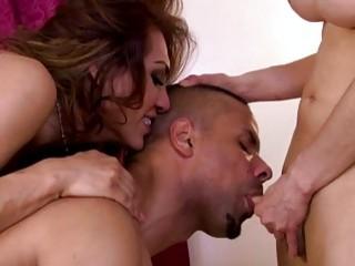 Shemales Jessy Dubai and shy Sunday Valentina share guys cock