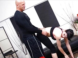 T-girl and her yoga instructor fuck in various positions