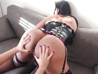 Hot matures eat each others ass before the shagging