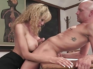Mature shemale with huge tits, insane anal on cam
