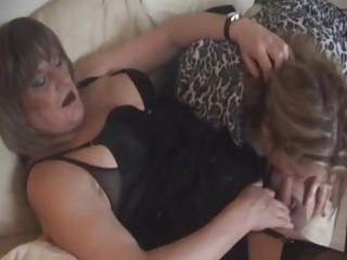 Fat British shemale has a freaky threesome with deviant couple