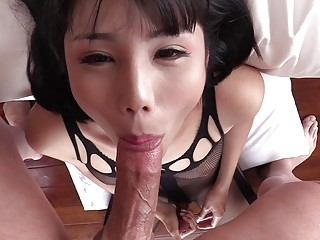Pretty ladyboy blowjobs and jerking off
