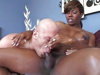 Black shemale with a big ass choked by white guy