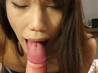 Asian Shemale Pimmie Blowjob and Anal Sex